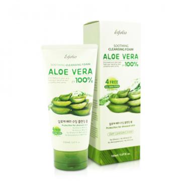 Esfolio 100% Aloe Vera Soothing Cleansing Foam 150g