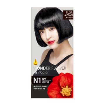 Flor De Man Wonder Flower Hair Color N1 Black 50g+70g