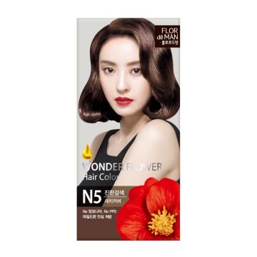Flor De Man Wonder Flower Hair Color N5 Rich Brown 50g+70g