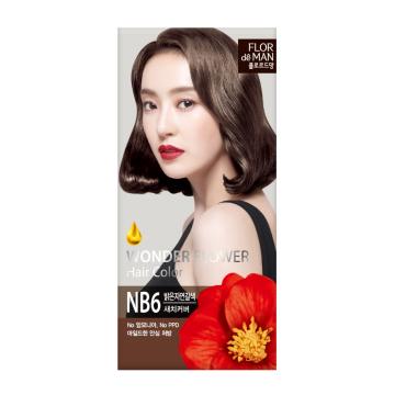 Flor De Man Wonder Flower Hair Color NB6 Light Natural Brown 50g+70g