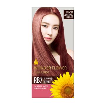 Flor De Man Wonder Flower Hair Color RB7 Rose Brown 50g+70g