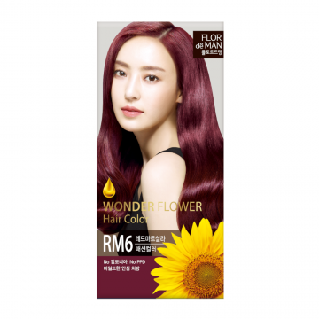 Flor De Man Wonder Flower Hair Color RM6 Red Marsala 50g+70g